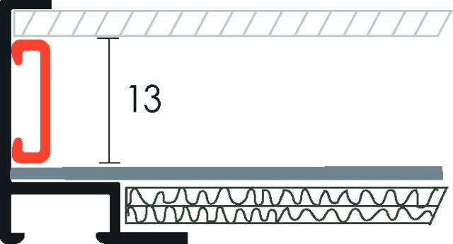 Grapa Met/álica de Fijaci/ón 180/° para Perfil Aretha